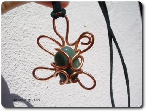green stone flower
